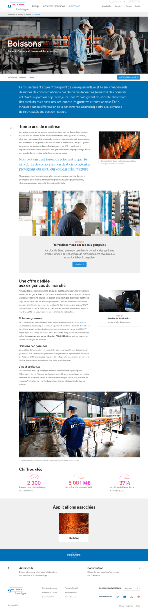 Air Liquide site institutionnel