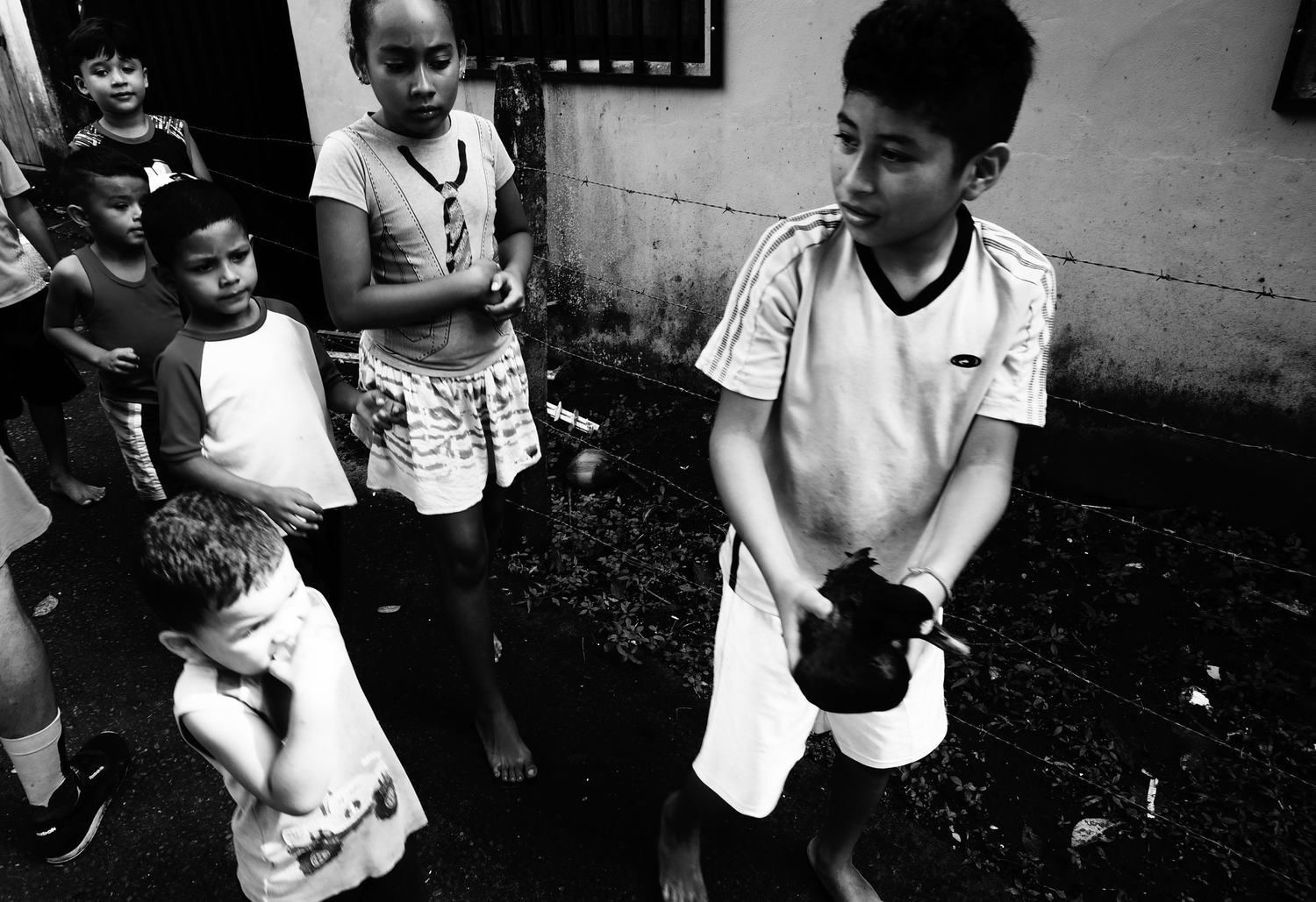 costa rica,children, black and white, world'schildren, street photography, art